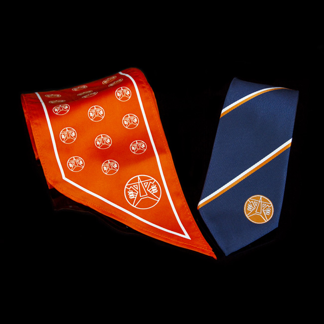 nyomott mintas logozott nyakkendo