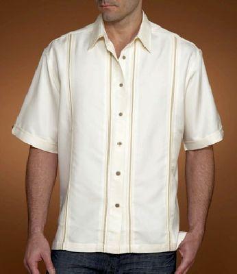 FL07 - rövid ujjú len férfi ing