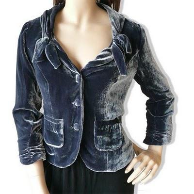 NB02 - Női bársony kabátka