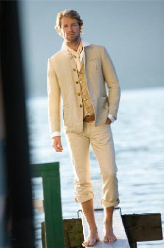 FL01 - Len férfi nyári öltözék