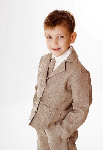 NGY02 - lenvászon fiú öltöny