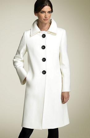 NT11 - Fehér női téli kabát