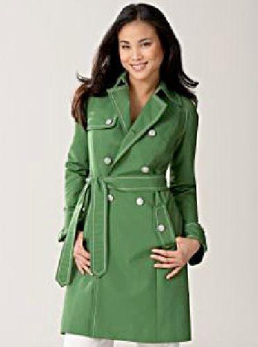 NNB05 - zöld tavaszi kabát