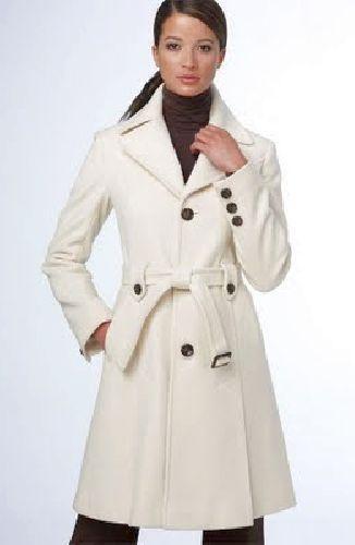 NNB08 - fehér tavaszi kabát